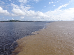 The meeting of the Rio Negro and the Amazon