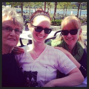 My mom, my daughter and me - three generations!