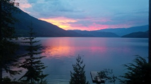 Sunrise over the lake. Kate O'Neill photo